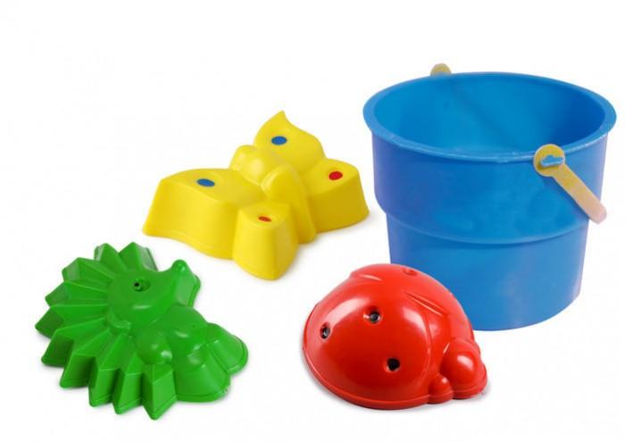 Игрушки для зимы Росигрушка Песочный набор Лесные зверушки в ведре (5 деталей) умка лесные обитатели с винни пухом