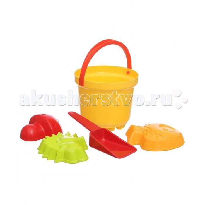 Игрушки для зимы Росигрушка Песочный набор Солнышко в ведре (6 деталей) 3 обнаженный песочный