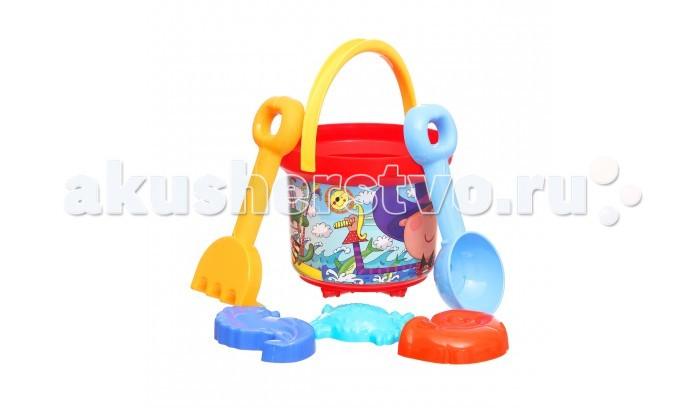 Игрушки в песочницу Росигрушка Песочный набор Пляж 2 л Морской волк