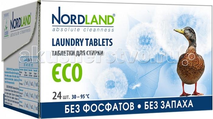 Бытовая химия Nordland Таблетки для стирки Eco 24 шт. кондиционеры для белья nordland nordland бальзам для стирки универсальный 750 мл