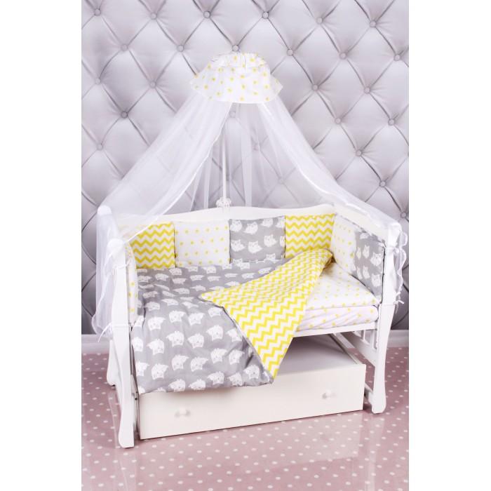 Комплект в кроватку AmaroBaby Совята (18 предметов)