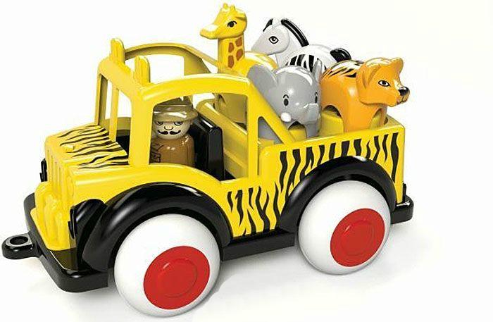 Машины Viking Toys Грузовик Джамбо 25 см с 1 гидом и 4 животными