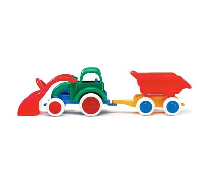 Машины Viking Toys Джамбо трактор-экскаватор 25 см с прицепом машины tomy john deere трактор monster treads с большими колесами и вибрацией