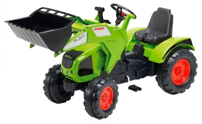 Педальные машины Falk Трактор-экскаватор педальный 140 см трактор tomy john deere зеленый 19 см с большими колесами звук свет