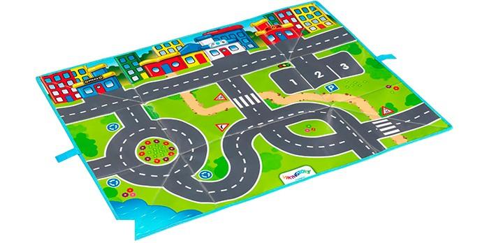Купить Игровые коврики, Игровой коврик Viking Toys Сумка-коврик Город с 2 машинками 90х70 см