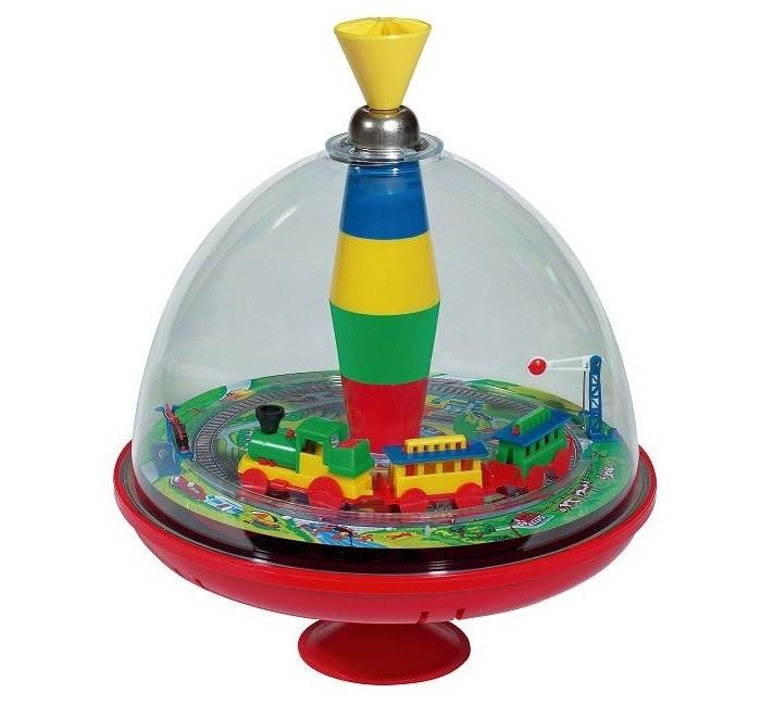 Развивающая игрушка Bolz Юла большая со звуковым эффектом Железная дорога 19 см