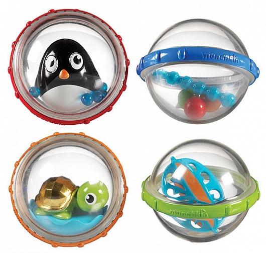 Игрушки для ванны Munchkin Игрушка для ванны Пузыри-поплавки 2 шт игрушки для ванны tolo toys набор ведерок квадратные