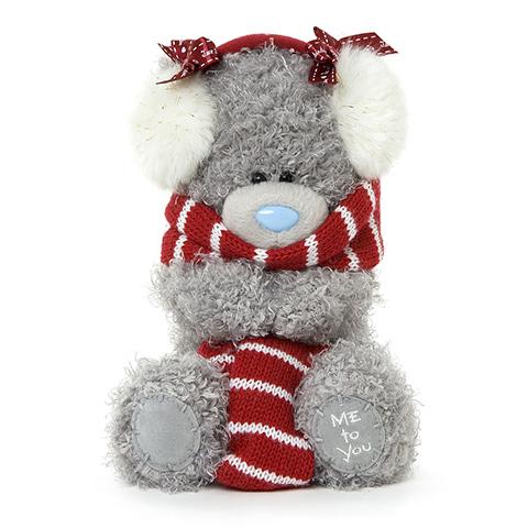 Мягкие игрушки Me to You Мишка Тедди в шарфе и наушниках 18 см гель лак для ногтей sally hansen miracle gel 434 цвет 434 poppy patch variant hex name e82d3a