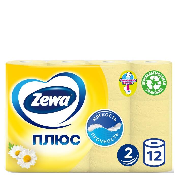 Хозяйственные товары Zewa Туалетная бумага  Плюс с ароматом ромашки 12 шт туалетная бумага с анекдотами