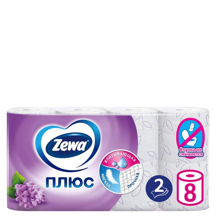 Хозяйственные товары Zewa Туалетная бумага Плюс с ароматом сирени 8 шт туалетная бумага анекдоты ч 8 мини 815605