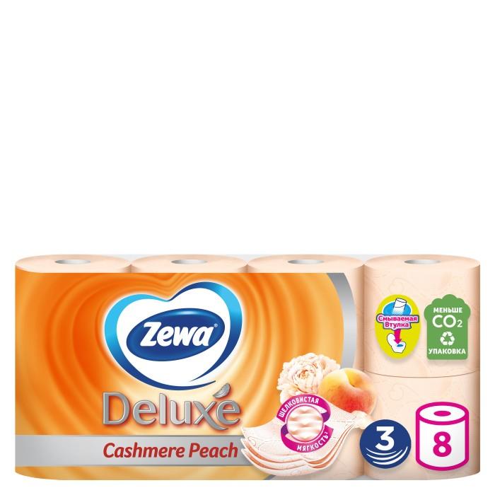 Хозяйственные товары Zewa Туалетная бумага Delux Персик 8 шт туалетная бумага с анекдотами