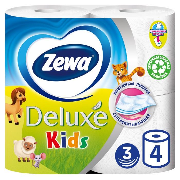 Хозяйственные товары Zewa Туалетная бумага Kids 4 шт туалетная бумага с анекдотами