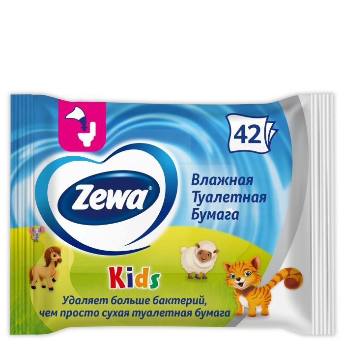 Хозяйственные товары Zewa Туалетная бумага Kids влажная туалетная бумага с анекдотами