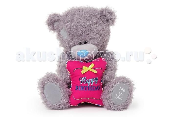 Мягкие игрушки Me to You Мишка Тедди с подушкой С Днем рождения 30.5 см мишка g01w3824 тедди me to you 13см в футболке 1165261