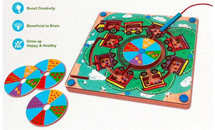 Настольные игры Avenir Развивающая игра Деревянный лабиринт с магнитными шариками аэлита развивающая игра цветные столбики
