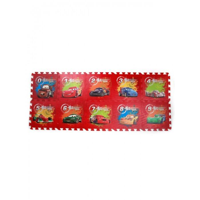 Игровые коврики Играем вместе Тачки (Disney) с вырезанными цифрами коврик-пазл играем вместе пластилин в ведре тачки 7 цветов