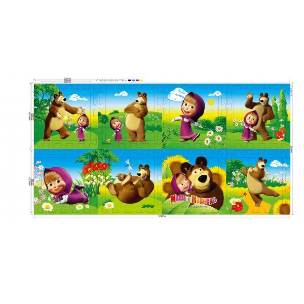 Игровые коврики Играем вместе Маша и Медведь коврик-пазл коврик пазл играем вместе маша и медведь