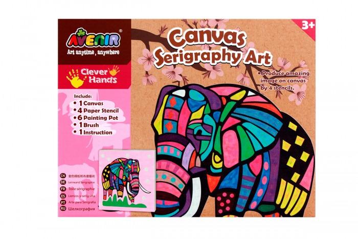 Наборы для творчества Avenir Большой набор для шелкографии Слон наборы для творчества avenir набор для гравировки волшебные птички