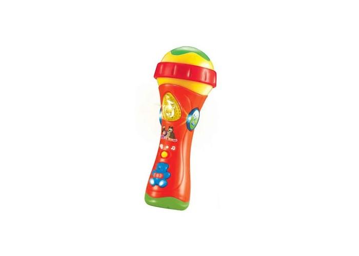 Музыкальные игрушки Играем вместе Микрофон Маша и Медведь игрушки для ванной играем вместе набор для купания маша и медведь
