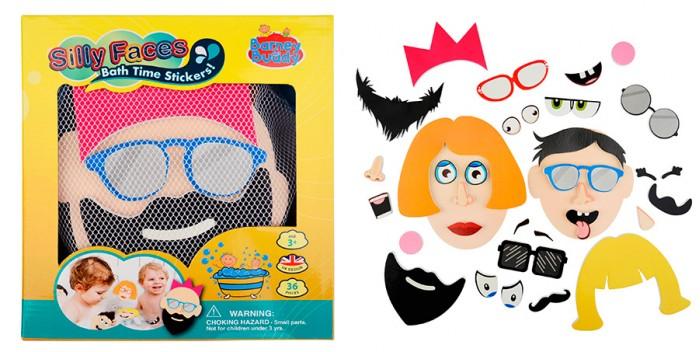 цена на Игрушки для ванны Barney&Buddy Стикеры для ванны Смешные лица