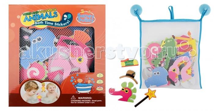 Игрушки для ванны Barney&Buddy Стикеры для ванны Забавные животные