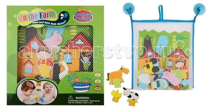 Игрушки для ванны Barney&Buddy Стикеры для ванны Веселая ферма barneybuddy barneybuddy игрушки для ванны стикеры замок принцессы