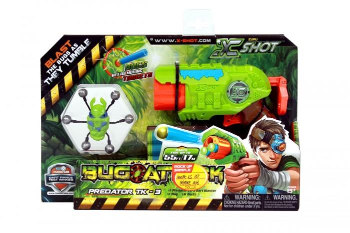 Игрушечное оружие Zuru X-Shot Микро Бластер с мишенями Атака Пауков игрушечное оружие zuru x shot ружье с мишенями атака пауков