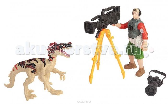 Игровые наборы Chap Mei Игровой набор Динозавр Эораптор и кинооператор игровые наборы tomy игровой набор приключения трактора джонни и лошади на ферме