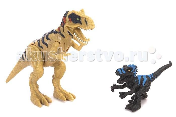 Игровые наборы Chap Mei Игровой набор Подвижная фигура Мегалозавра с маленьким динозавром игровые наборы chap mei подвижная фигура пахиринозавр