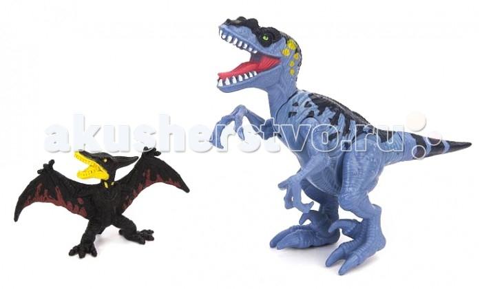 Игровые наборы Chap Mei Игровой набор Подвижная фигура Тиранозавра с птеродактилем игровые наборы chap mei подвижная фигура пахиринозавр