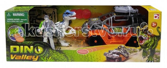 Игровые наборы Chap Mei Игровой набор Динозавр Тиранозавр и охотник на джипе (стрельба) игровые наборы chap mei игровой набор динозавр эораптор и кинооператор