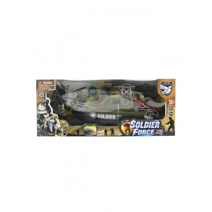 Игровые наборы Chap Mei Игровой набор Soldier Force Ракетный катер (стрельба) игровые наборы tomy игровой набор приключения трактора джонни и лошади на ферме