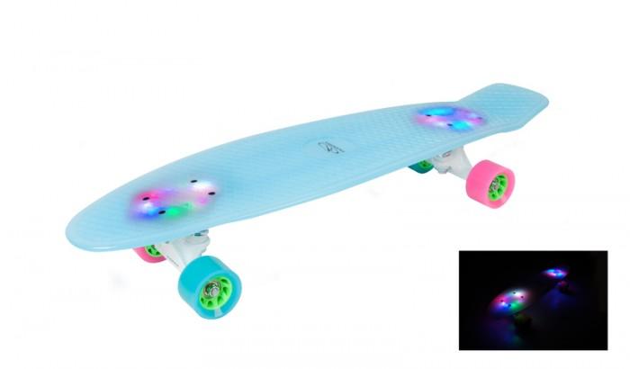 Детский транспорт , Скейтборды Hudora Скейтборд Retro с подсветкой Iceglow арт: 393214 -  Скейтборды