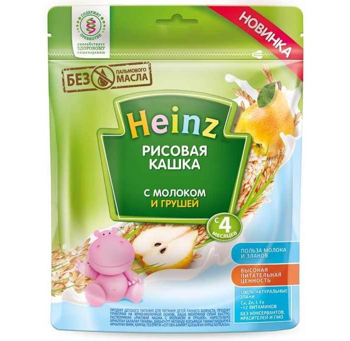 Каши Heinz Молочная Рисовая каша с грушей с 4 мес., 250 г вибратор на сосок с грушей черный