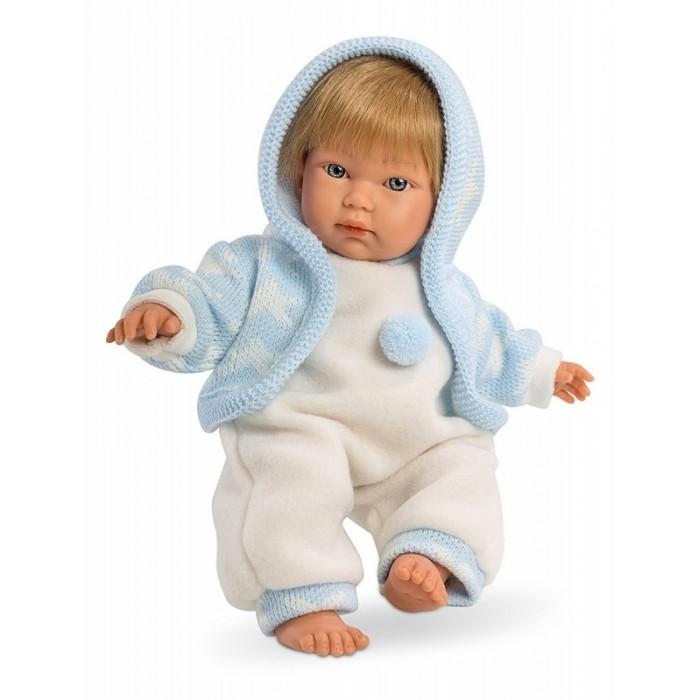 Llorens Кукла Кукуй 30 см L 30001Кукла Кукуй 30 см L 30001Кукла Llorens Кукуй 30 см L 30001 - оригинальная кукла, которая очень похожа на настоящего малыша  Кукуй выполнен в реалистичной манере, на его ножках и ручках можно рассмотреть младенческие складочки. Его милое личико с пухлыми щечками, маленьким носиком и глазками очень выразительно.    Особенности:  Кукла имеет мягконабивное тело, а голова ручки и ножки изготовлены из приятного на ощупь винила с запахом ванили.  Подвижные части тела позволяют легко переодевать куколку и придавать ей различные игровые позы.   Кукла выполнена из сочетания поливинилхлорида и пластика, что позволяет с высокой долей достоверности воссоздать физиологические и мимические особенности маленьких детей.   При изготовлении кукол используются только сертифицированные материалы, безопасные и не вызывающие аллергических реакций.   Волосы у кукол отличаются густотой, шелковистостью и блеском, при расчесывании они не выпадают и не ломаются.  Волосы прошиты по всей голове. Высота: 30 см<br>
