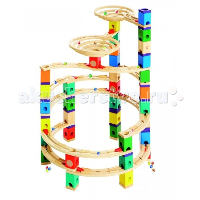 Деревянная игрушка Hape Конструктор Quadrilla Е6008 (198 деталей)Конструктор Quadrilla Е6008 (198 деталей)Деревянная игрушка Hape Конструктор Quadrilla Е6008 - увлекательный игровой набор, который обязательно понравится вашему ребенку.  Игровой набор состоит из множества разноцветных кубиков с отверстиями. Кидая разноцветные шарики в воронку, малыш наблюдает, как они скатываются вниз по выстроенным лабиринтам. Вид конструкции малыш может менять на свое усмотрение. Малыш может играть как самостоятельно, так и в компании друзей или родителей.  Игра развивает навыки мелкой моторики, воображение, пространственное мышление, позволяет юному строителю проявить свой творческий потенциал. Способствует осознанию причинно-следственных связей.  В наборе 198 деталей.<br>