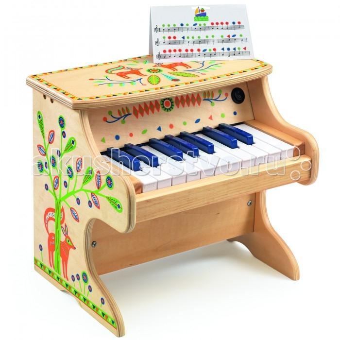 Электронные игрушки Djeco Электронное пианино 06006 банкетку для пианино в новокузнецке