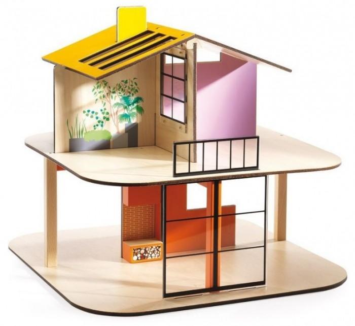 Djeco Дом цветной для куколДом цветной для куколDjeco Дом цветной для кукол станет прекрасной основой для увлекательных игр с фигурками вашего ребенка.  Набор представляет собой конструктор из нескольких деталей. С помощью деталей ребенок должен собрать двухэтажный кукольный дом. Домик с яркой крышей содержит несколько комнаток, в которых ребенок будет самостоятельно придумывать интерьер и создавать различные игровые ситуации.  Легкий и прочный домик станет прекрасной основой для сюжетных игр ребенка с его любимыми фигурками людей. В процессе такой игры у ребенка будет прекрасно развиваться фантазия и воображение, усидчивость и внимание к деталям.  Внимание! В набор входят только детали для сборки домика. Фигурки приобретаются отдельно. Набор продается в яркой подарочной коробке. Размер домика в собранном виде: 36.5 x 40 x 40 см.<br>