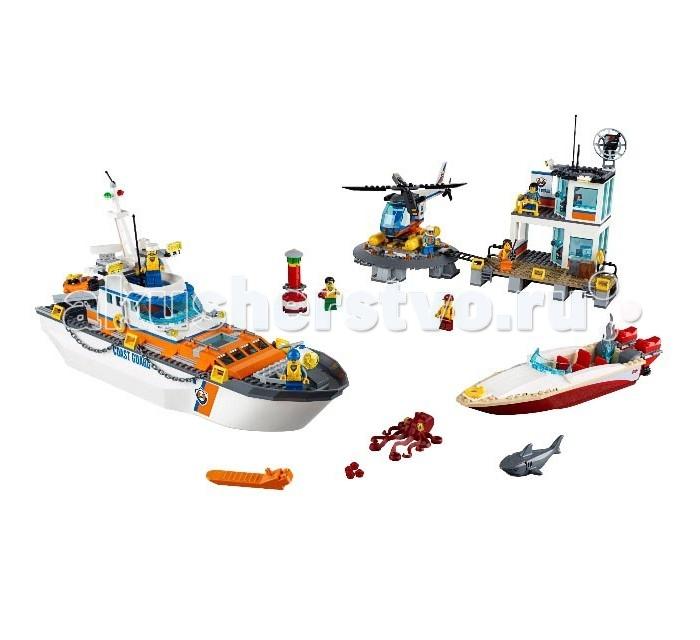 Конструктор Lego City 60167 Лего Город Штаб береговой охраныCity 60167 Лего Город Штаб береговой охраныКонструктор Lego City 60167 Лего Город Штаб береговой охраны украсит собой любой Лего-город и прекрасно дополнит коллекцию.  Детям предстоит стать сотрудниками береговой охраны и спасти тех, кто попал в опасное положение. Бравые спасатели должны вытащить из беды моряка, пока до него не добрались кровожадная акула и гигантский осьминог. Используя подручные средства, а также вертолет и корабль, ребятам необходимо добраться до бакена и спасти моряка, чей катер потерпел крушение. Дети также смогут собрать базу спасателей, которая оборудована вертолетной площадкой, антеннами и располагается на берегу.  Собрав всю сцену, ребята смогут стать настоящими спасателями, состоящими в береговой охране. Игровые сценарии ограничиваются только фантазией ребенка, поэтому данный игровой набор надолго завладеет вниманием ребенка и его друзей. Композиция Coast Guard Head Quarters собирается из 792 деталей, изготовленных из качественного пластика.   Такой набор отлично подойдет детям старше 6 лет и поможет им усовершенствовать моторику рук, воображение, логическое мышление, а также просто весело провести время.  Размеры: Количество деталей: 792 шт Размер корабля: 21 х 41 х 10 см Размер участка береговой охраны: 21 х 19 х 13 см Размер вертолетной площадки: 4 х 20 х 16 см Размер вертолета: 8 х 24 х 18 см Размер скоростного катера: 7 х 26 х 6 см Размер бакена: 8 х 3 х 3 см Длина фигурки акулы: 7 см. Длина фигурки осьминога: 6 см.<br>
