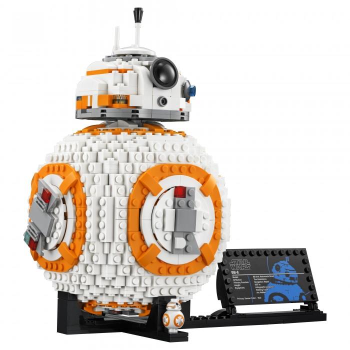 Конструктор Lego Star Wars 75187 Лего Звездные Войны Дроид BB-8Star Wars 75187 Лего Звездные Войны Дроид BB-8Конструктор Lego Star Wars 75187 Лего Звездные Войны Дроид BB-8 станет приятным сюрпризом для всех ребятишек, которые являются поклонниками культовой звездной саги под названием Star Wars.   Особенности: Набор включает в себя огромное количество деталей, а потому ребенку предстоит запастись терпением, чтобы правильно собрать все элементы воедино Но результат стоит того, ведь после окончания сборки перед ребенком предстанет астромеханический робот из любимой киноленты Сборка подобного конструктора - это не только интересный, но и полезный процесс, во время которого дети смогут тренировать различные навыки. Количество деталей: 1106 шт. Размер собранной модели: 25 х 15 см. Длина подставки: 26 см.<br>
