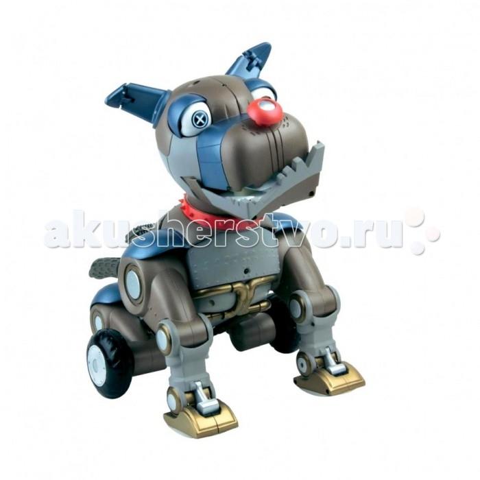 Интерактивная игрушка Wowwee Робот-собака РексРобот-собака РексИнтерактивная игрушка Wowwee Робот-собака Рекс предназначен для детей в возрасте от 4 лет.   Игрушка может стать замечательным другом как для мальчиков, так и для девочек. Высота собаки составляет 13 см.  Робот имеет различные функции:  вращение и подсветка глаз по нажатию кнопки на носу;  ручное трансформирование частей тела. Мини-робот Собака Рекс выполнен в оригинальном дизайне.  Дистанционный пульт управления отсутствует.<br>