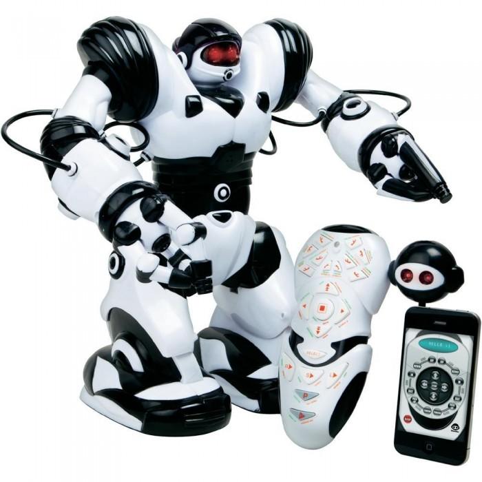 Wowwee Робот РобосапиенРобот РобосапиенИнтерактивная игрушка Wowwee Робот Робосапиен нового поколения. Им можно управлять не только с пульта, но и со смартфона. Для этого нужно установить на телефон бесплатную программу управления.   Робот обладает всеми функциями своего предшественника, но топерь им можно управлять и с помощью смартфона, скачав специальную программу.   Робосапиен Х имеет демострационный режим, возможность программирования, и прямого управления движениями с пульта.   Элементы питания — 4 батарейки типа D и 3 батарейки типа ААА (в комплект не входят).  Размер упаковки: 34 х 27 х 45 см.  Высота робота 34 см. Вес: 4 кг.<br>