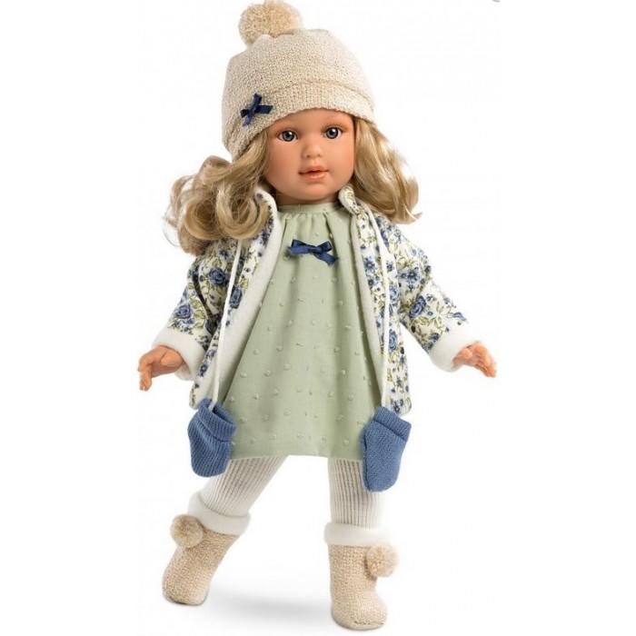 Llorens Кукла Мартина блондинка 40 смКукла Мартина блондинка 40 смКукла Llorens Мартина блондинка 40 см - реалистичная куколка с ямочками и складочками на ручках и ножках.  Кукла Мартина - очень стильная барышня. Все ее наряды и аксессуары модные и очень качественно сшиты.   Особенности:  Личико подробно и детально проработано, черты лица тонкие и аккуратные.  Кукла имеет мягконабивное тело, а голова ручки и ножки изготовлены из приятного на ощупь винила с запахом ванили.  Подвижные части тела позволяют легко переодевать куколку и придавать ей различные игровые позы.  При нажатии на животик малыш начинает плакать и звать маму и папу.   Волосы отличаются густотой, шелковистостью и блеском, при расчесывании они не выпадают и не ломаются.  Волосы прошиты по всей голове. Высота: 40 см<br>