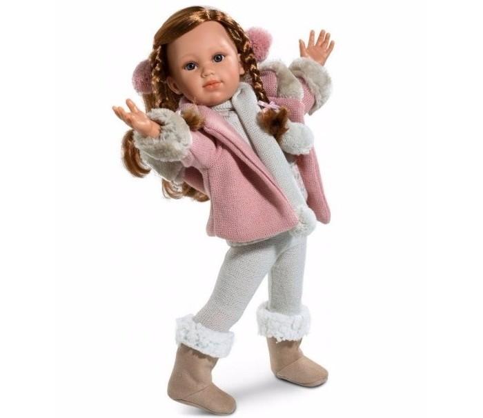 Llorens Кукла София 42 смКукла София 42 смКукла Llorens София 42 см - реалистичная куколка с ямочками и складочками на ручках и ножках.  Кукла София - очень стильная барышня. Все ее наряды и аксессуары модные и очень качественно сшиты.   Особенности:  Личико подробно и детально проработано, черты лица тонкие и аккуратные.  Кукла имеет мягконабивное тело, а голова ручки и ножки изготовлены из приятного на ощупь винила с запахом ванили.  Подвижные части тела позволяют легко переодевать куколку и придавать ей различные игровые позы.  При нажатии на животик малыш начинает плакать и звать маму и папу.   Волосы отличаются густотой, шелковистостью и блеском, при расчесывании они не выпадают и не ломаются.  Волосы прошиты по всей голове. Высота: 42 см<br>