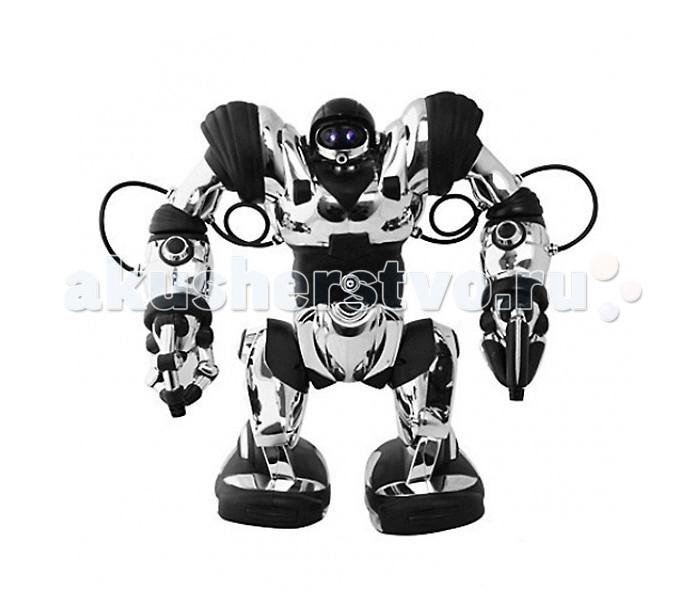 Wowwee Робот Wow WeeРобот Wow WeeИнтерактивная игрушка Wowwee Робот Wow Wee обладает следующими функциями:  Два режима ходьбы и поворотов Быстрые, полностью управляемые руки с двумя различными захватами 67 программируемых функций, включающих в себя захват и бросание предметов, удары, сгибания, танец, воспроизведение различных звуков, а также набор движений каратэ Игрушка издает различные звуки: рыгает, свистит, храпит  Программируемые движения: До 84 программируемых шагов, возможно программирование датчиков на ногах и руках, акустического датчика, свободное программирование (заранее введенная Вами программа запускается с пульта)  Все команды выполняются со специального пульта ДУ или при касании датчиков на руках или ногах (запускается ранее введенная команда). Демонстрационные режимы: танцы, многообразные движения, в том числе удары кун-фу.  Работает игрушка на батарейках или аккумуляторах (тип D 4 штуки и тип ААА 3 штуки).<br>