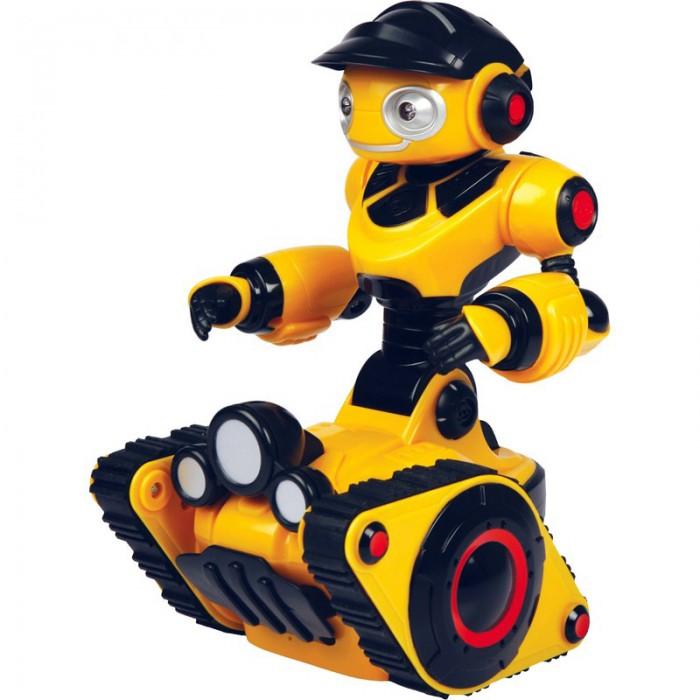 Интерактивная игрушка Wowwee РобороверРобороверИнтерактивная игрушка Wowwee Роборовер гусеничный от компании WowWee говорит по-русски! Он станет твоим верным другом!  Функции: имеет искусственный интеллект, что позволяет ему свободно ездить и комментировать происходящее на русском языке; интегрированные инфракрасные датчики позволяют ему обходить препятствия; Роборовер автоматически включает фонари при наступлении темноты; в режиме «Наблюдение» Роборовер сканирует окружающую среду и предупреждать хозяина о любых вторжениях на его территорию; имеет режим голосового управления; имеет режим «Игра», в котором ребенок может попросить Роборовера поиграть с ним; режим «Следуй за мной» позволяет роботу следовать за хозяином; глаза и рот светятся, когда он  говорит.  Роборовер — это очень легкий в использовании робот, который всегда готов с вами поболтать. Поначалу немного он немного застенчив, давайте ему команды, используя пульт дистанционного управления, чтобы помочь ему стать смелее. Его личность и словарный запас будут становиться все более изощренными, чем больше Вы играете с ним.  Особенности: Роборовер – интерактивный робот игрушка с пультом дистанционного управления. Интегрированные инфракрасные датчики помогают ему обходить препятствия. Он станет Вашим любимым роботом! Его всегда манят приключения, он любит исследовать все вокруг. Будь то ночное время или темный чулан, Роборовер автоматически включит освещающие фонари. В режиме Наблюдение он будет сканировать окружающую его среду и предупреждать Вас о любых вторжениях на его територию. Режим Исследование позволяет ему свободно ездить и комментировать происходящее. Пульт дистанционного управления прост и удобен в использовании, идеально подходит для маленьких исследователей. Режим управления роботом голосом, который дает возможность изменять его настроение. Также Вы можете попросить Роборовера поиграть с вами. Режим Следуй за Мной позволяет роботу следовать за хозяином. Глаза и рот светятся когда он говорит. Игрушка