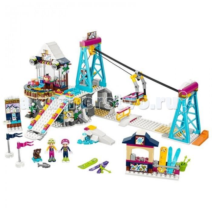 Конструктор Lego Friends 41324 Лего Подружки Горнолыжный курорт ПодъемникFriends 41324 Лего Подружки Горнолыжный курорт ПодъемникКонструктор Lego Friends 41324 Лего Подружки Горнолыжный курорт Подъемник поможет провести день на горнолыжном курорте. Теперь есть возможность взять напрокат весь необходимый инвентарь для захватывающего дух спуска с вершины склона.   Добравшись туда на подъемнике, можно немного отдохнуть в прекрасном ресторанчике, а подкрепившись устремиться вниз по скоростному спуску. У подножия горы можно встретить милого медвежонка и покормить его рыбкой. Сама подъемная установка приходит в движение и при вращении желтой ручки.  Ресторан на вершине горы позволяет насладиться видами заснеженных гор и отдохнуть перед спуском. В наличии имеется кассовый аппарат для расчета с клиентами. У спуска предусмотрен пусковой механизм, который можно привести в движения с помощью бокового рычага. Lego Friends Горнолыжный курорт Подъемник подойдет для совместной игры с другими конструкторами из этой серии.  Количество деталей: 585 шт.<br>