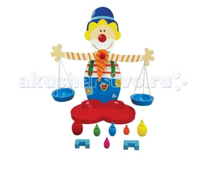 Деревянная игрушка Mapacha Весы клоун