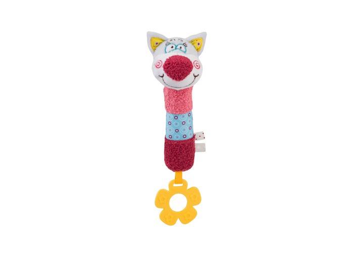 Мягкие игрушки BabyOno с пищалкой Котик Oliver babyono развивающая игрушка гимнастика малыша