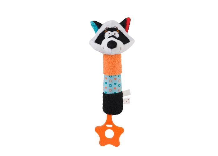 Мягкие игрушки BabyOno с пищалкой Енот Joe babyono развивающая игрушка гимнастика малыша